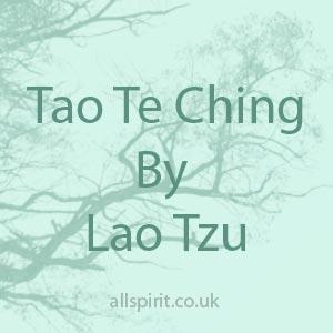 Tao Te Ching by Lao Tzu Allspirit