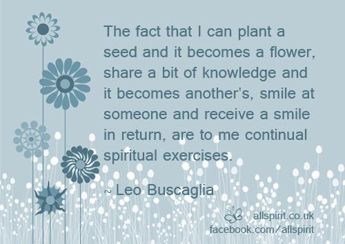 Plant A Seed Quote Leo Buscaglia