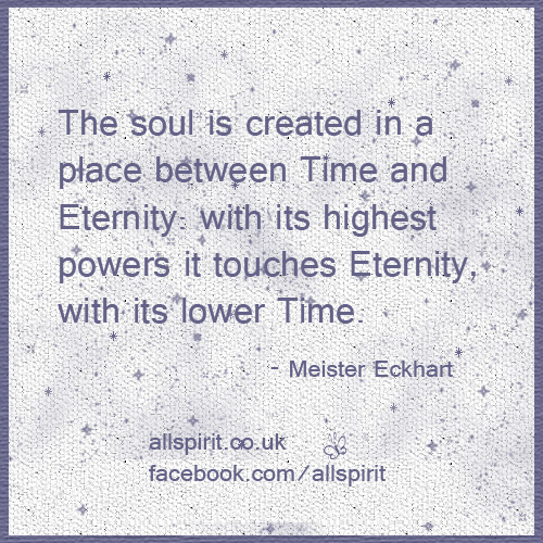 Time and Eternity Meister Eckhart Quote